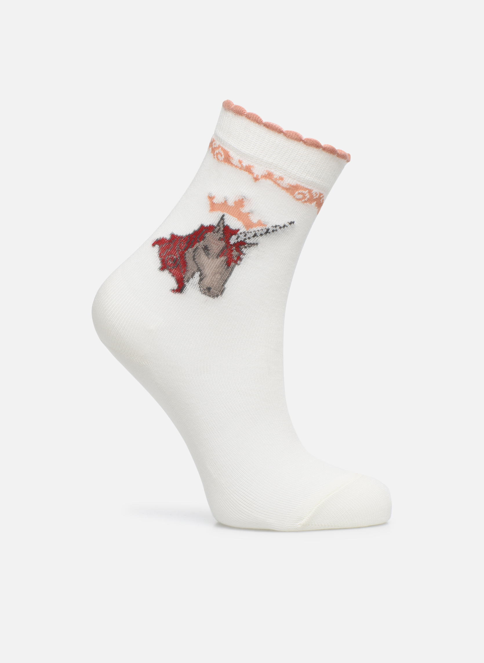 Chaussettes et collants Falke Chaussettes Unicorn Blanc vue détail/paire
