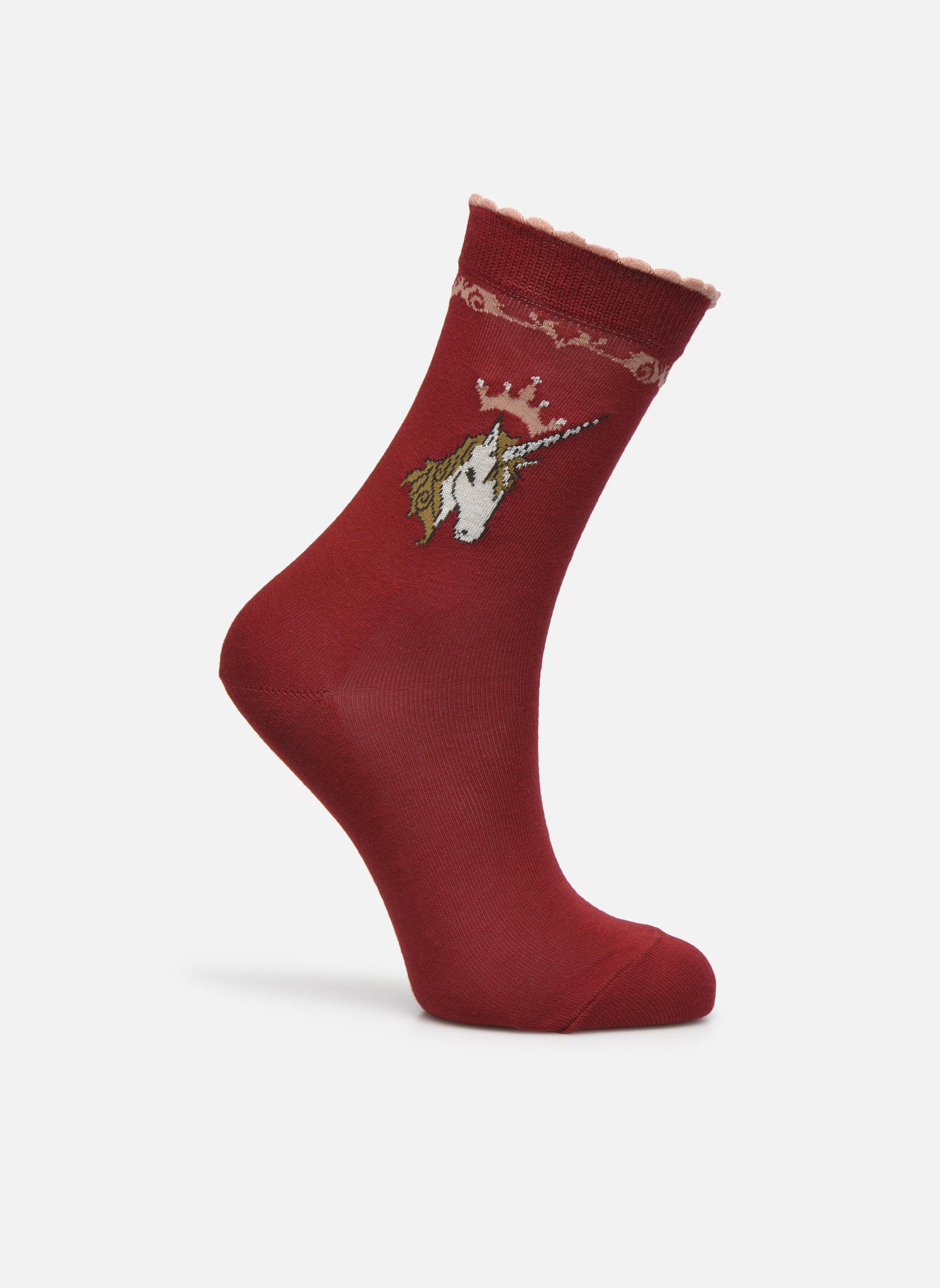 Chaussettes et collants Falke Chaussettes Unicorn Rouge vue détail paire 7ac28a8899e5