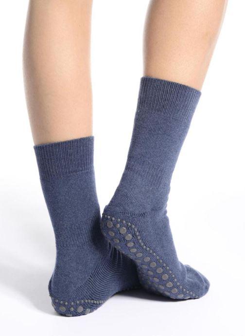 Chaussettes et collants Falke Chaussons-chaussettes Homepads Bleu vue haut