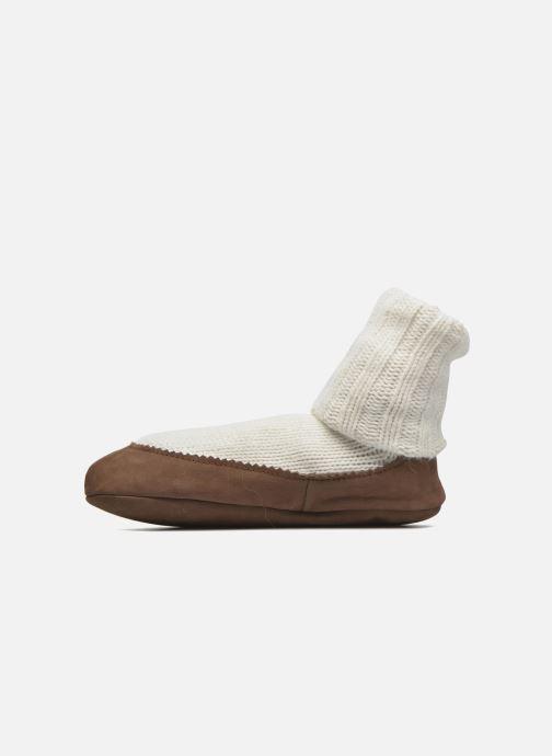 Sokken en panty's Falke Chaussons-chaussettes Cottage Socke Wit voorkant