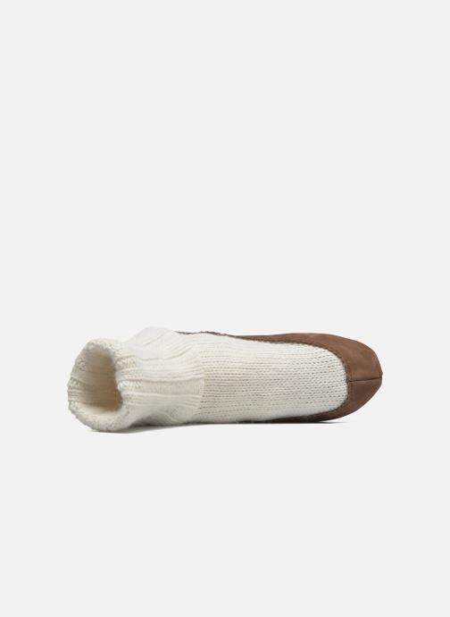 Chaussettes et collants Falke Chaussons-chaussettes Cottage Socke Blanc vue gauche