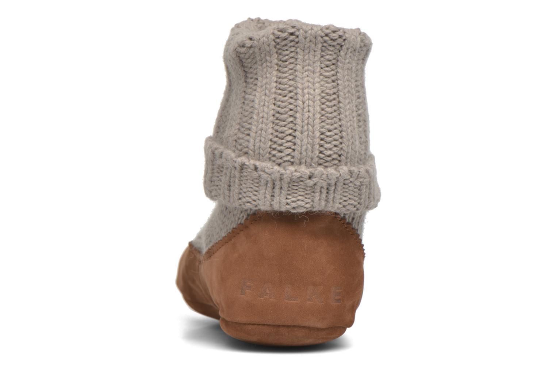 Chaussettes et collants Falke Chaussons-chaussettes Cottage Socke Beige vue droite