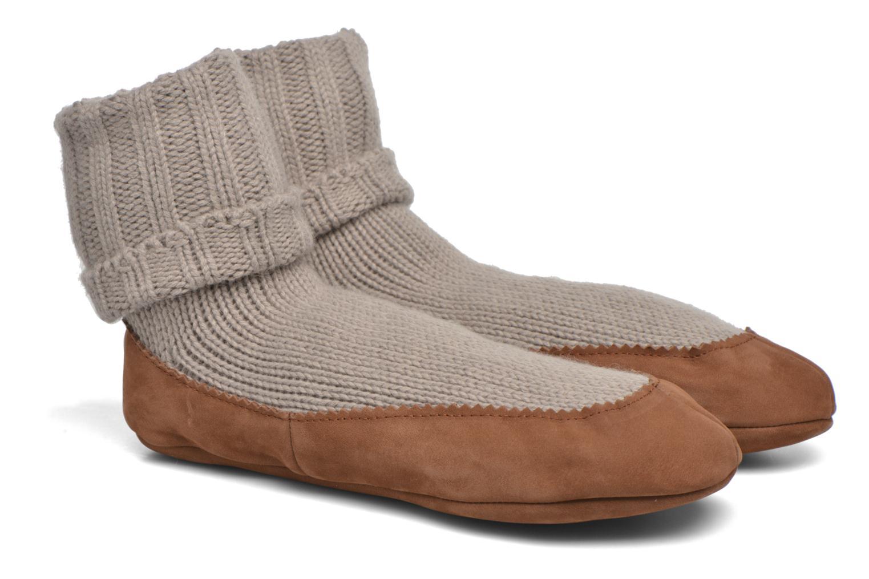 Chaussettes et collants Falke Chaussons-chaussettes Cottage Socke Beige vue détail/paire