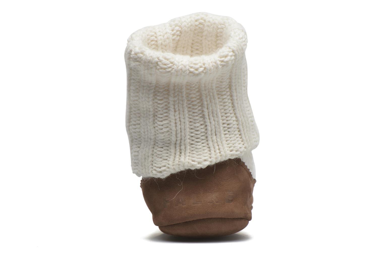 Medias y Calcetines Falke Chaussons-chaussettes Cottage Socke Blanco vista lateral derecha