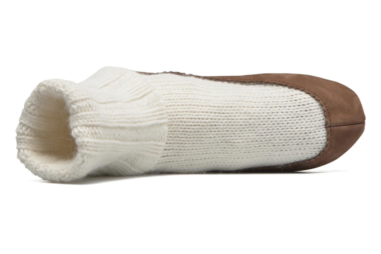 Medias y Calcetines Falke Chaussons-chaussettes Cottage Socke Blanco vista lateral izquierda