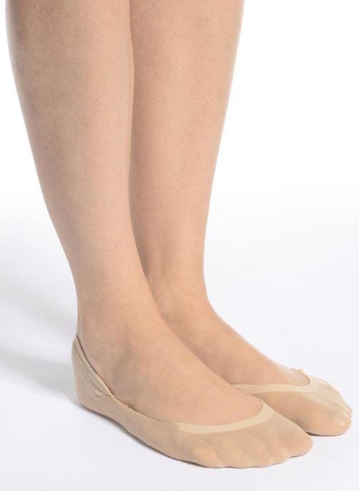 Strumpor och strumpbyxor Falke Chaussettes invisibles Cotton step Svart bild från ovan
