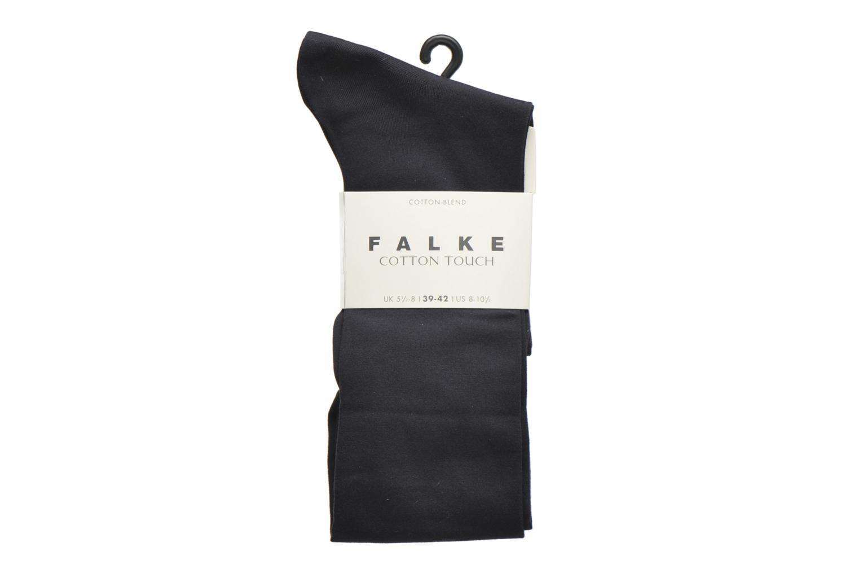 Strømper og tights Falke Chaussettes hautes Cotton Touch Blå detaljeret billede af skoene