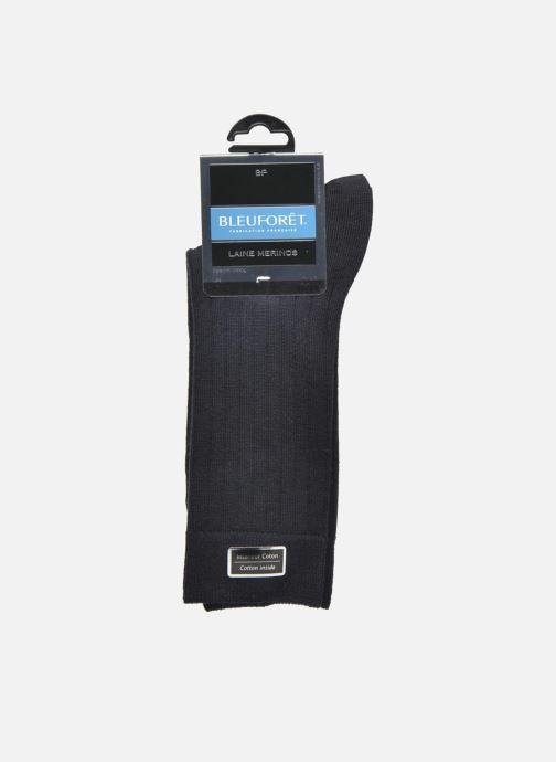 Chaussettes et collants BLEUFORÊT Chaussettes laine Intérieur Coton Bleu vue derrière