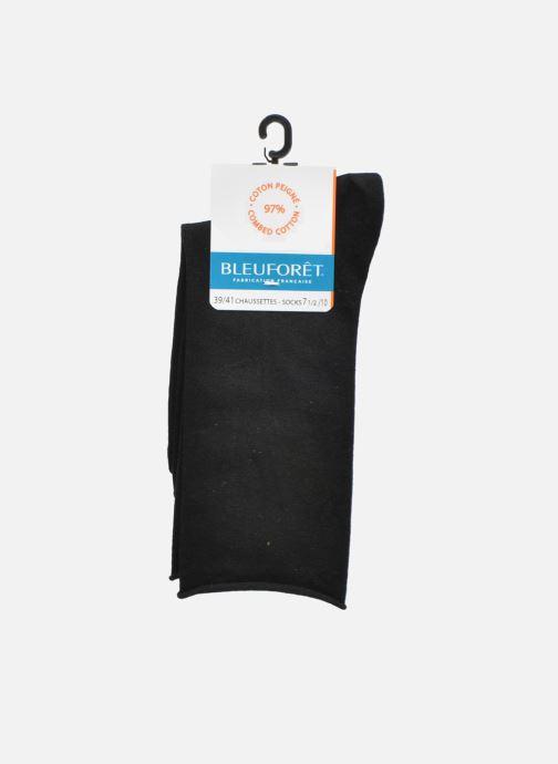 Chaussettes et collants BLEUFORÊT Chaussettes coton velouté Noir vue derrière
