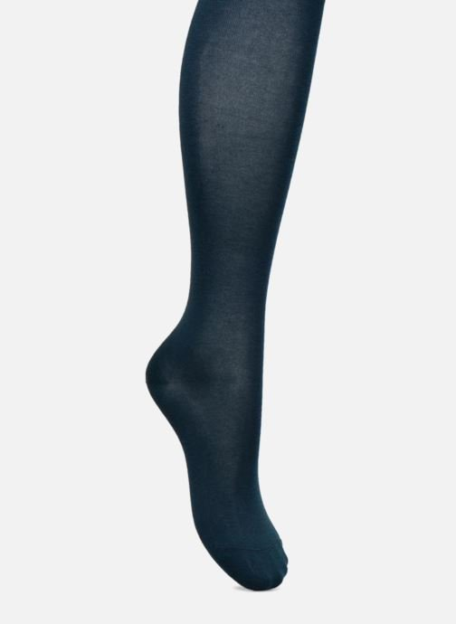 Socks & tights BLEUFORÊT Collant coton velouté Blue detailed view/ Pair view