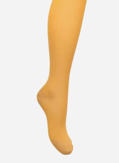 Socks & tights BLEUFORÊT Collant coton velouté Yellow detailed view/ Pair view