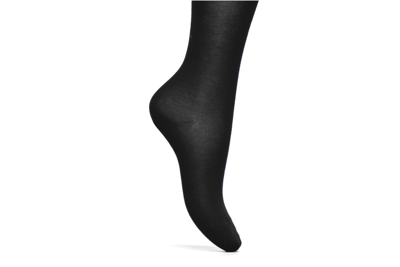 Chaussettes et collants BLEUFORÊT Collant coton velouté Noir vue derrière