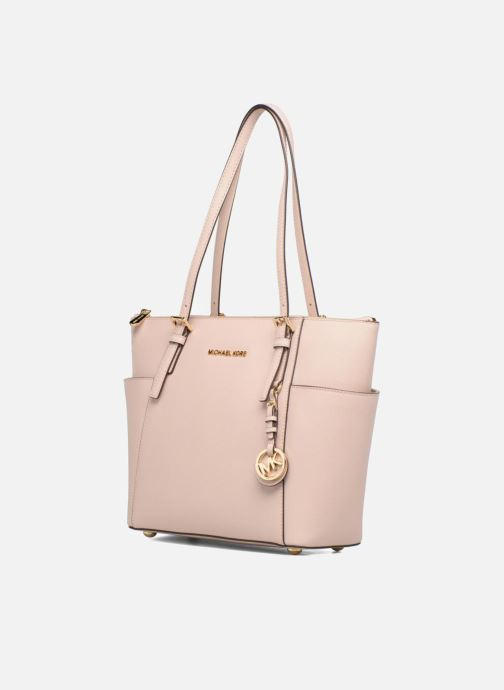 Handbags Michael Michael Kors JET SET ITEM EW TZ Tote Pink model view