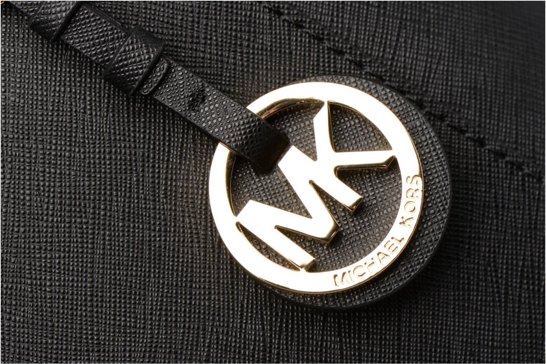 Bolsos de mano Michael Michael Kors JET SET ITEM EW TZ Tote Negro vista lateral izquierda