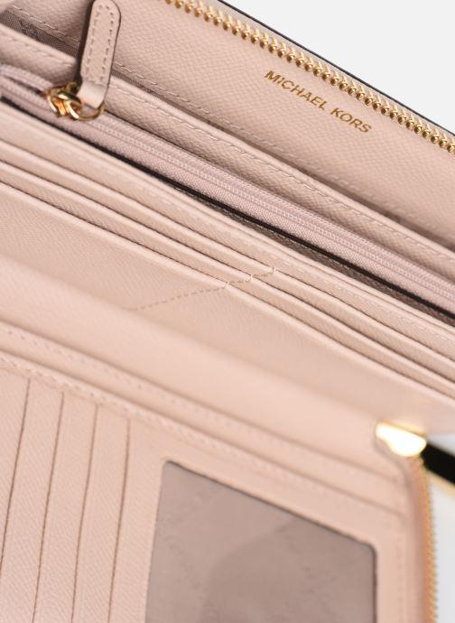 Kleine lederwaren Michael Michael Kors Travel Continental Portefeuille Roze achterkant