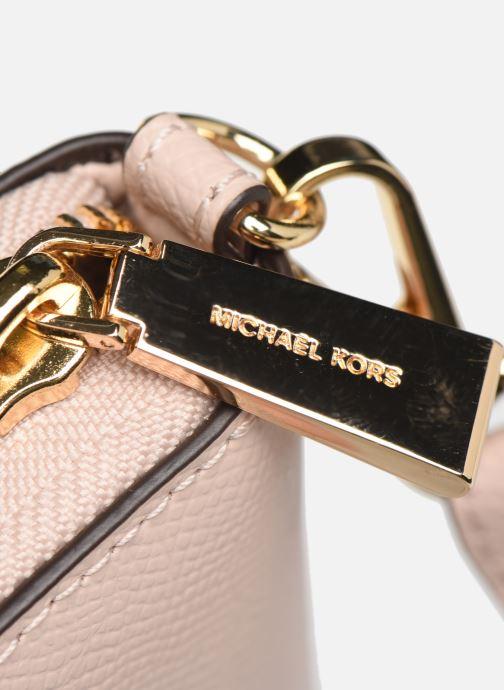 Marroquinería pequeña Michael Michael Kors Travel Continental Portefeuille Rosa vista lateral izquierda