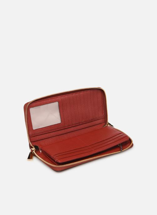 Kleine lederwaren Michael Michael Kors Travel Continental Portefeuille Rood achterkant