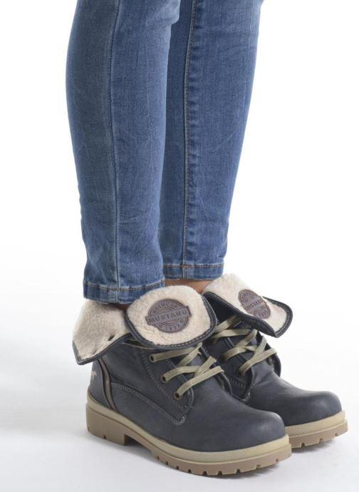 Bottines et boots Mustang shoes Alina Bleu vue bas / vue portée sac
