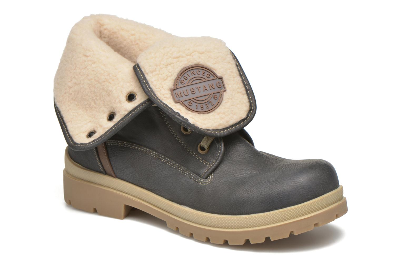 Boots en enkellaarsjes Mustang shoes Alina Blauw detail