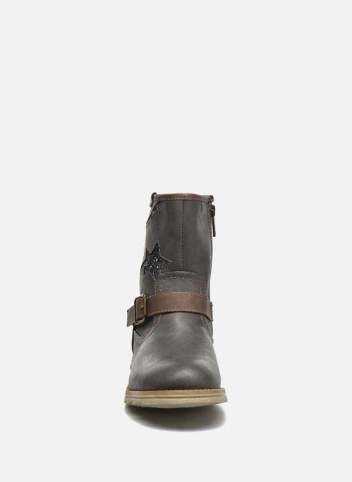 Stiefel Mustang shoes Gisa Kids grau schuhe getragen