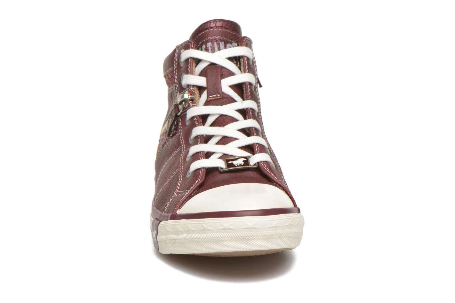 Trainers Mustang shoes Leni Burgundy model view