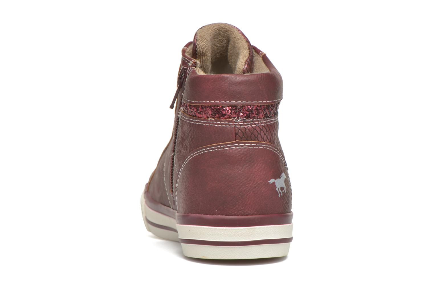 Trainers Mustang shoes Leni Burgundy view from the right