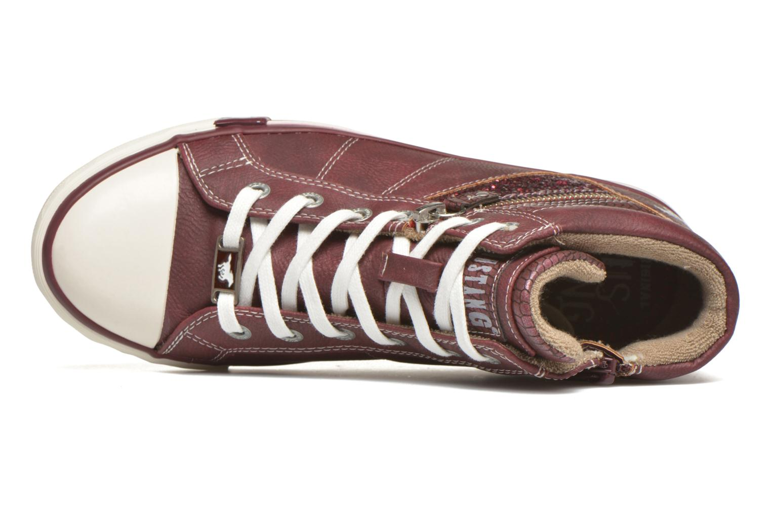 Trainers Mustang shoes Leni Burgundy view from the left