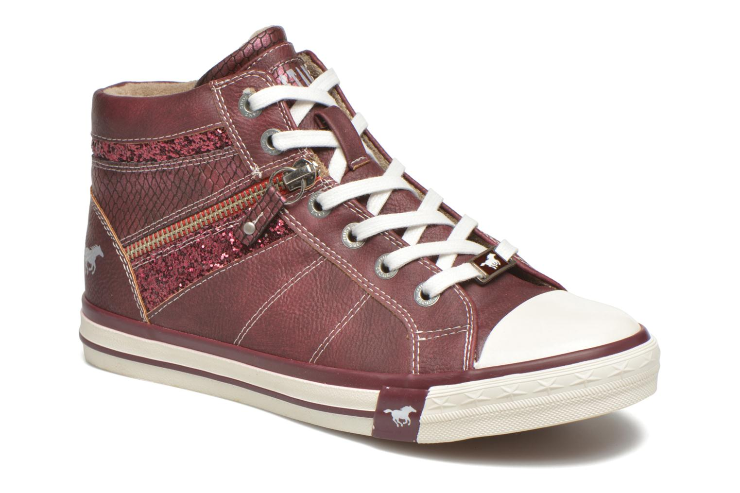 Trainers Mustang shoes Leni Burgundy detailed view/ Pair view