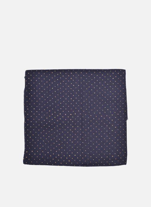 Scarf Petite mendigote GINGER Foulard laine 100x200 Blue back view