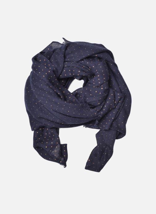Scarf Petite mendigote GINGER Foulard laine 100x200 Blue detailed view/ Pair view