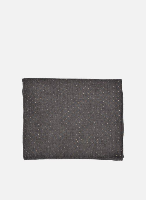 Scarf Petite mendigote GINGER Foulard laine 100x200 Grey back view
