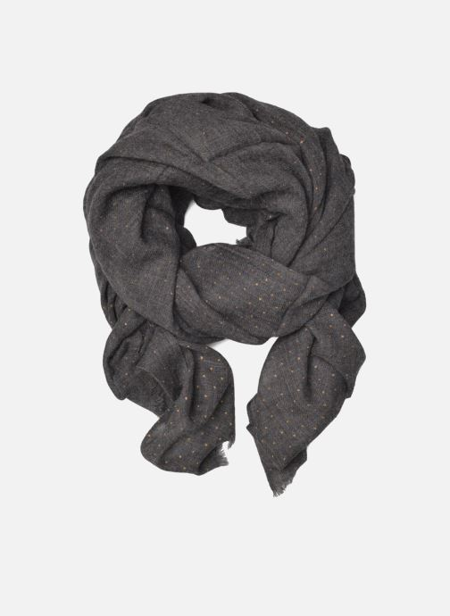 Scarf Petite mendigote GINGER Foulard laine 100x200 Grey detailed view/ Pair view