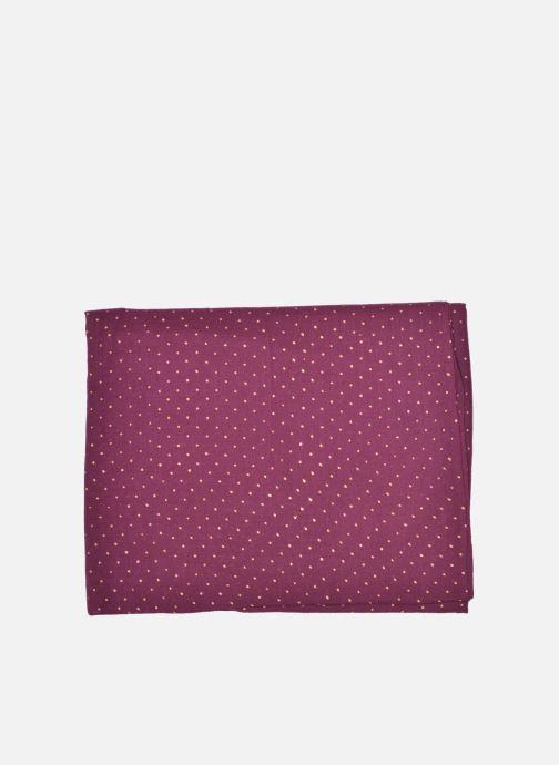 Scarf Petite mendigote GINGER Foulard laine 100x200 Brown back view