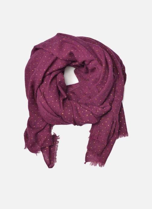 Echarpes et Foulards Petite mendigote GINGER Foulard laine 100x200 Marron vue détail/paire