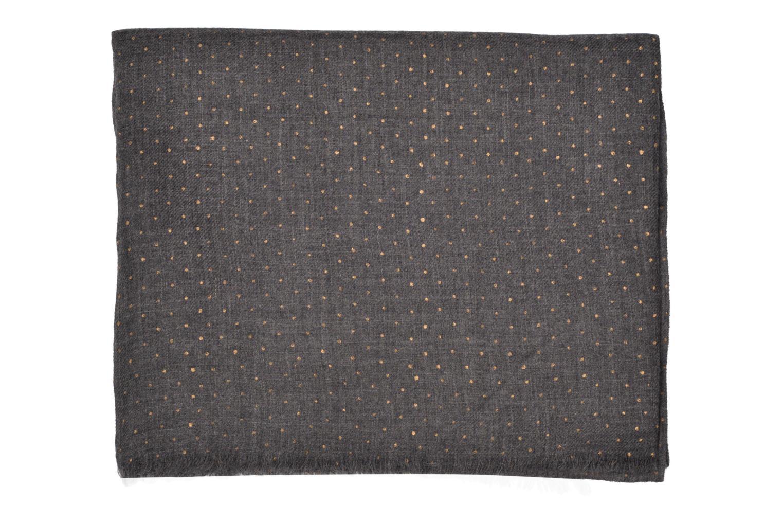 Halstørklæde og tørklæde Petite mendigote GINGER Foulard laine 100x200 Grå se bagfra