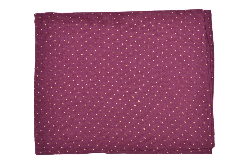 Sjaal Petite mendigote GINGER Foulard laine 100x200 Bruin achterkant