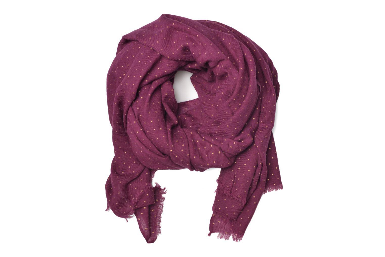 Sjaal Petite mendigote GINGER Foulard laine 100x200 Bruin detail
