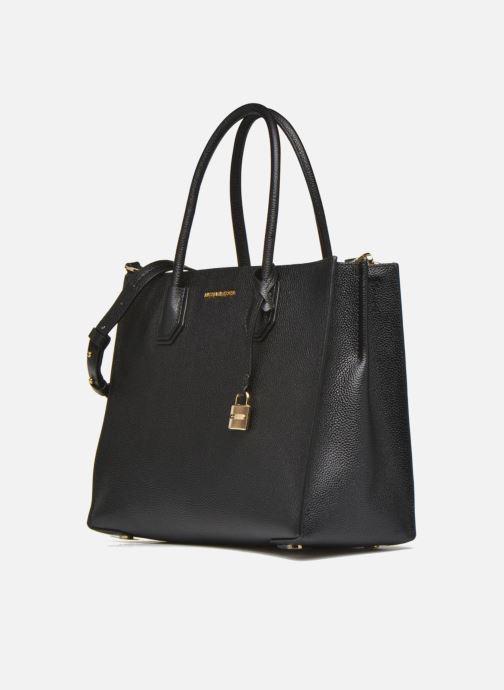 Bolsos de mano Michael Michael Kors MERCER LG Convertible Satchel Negro vista del modelo