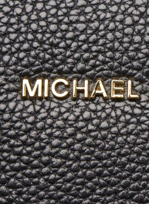 Borse Michael Michael Kors MERCER LG Convertible Satchel Nero immagine sinistra