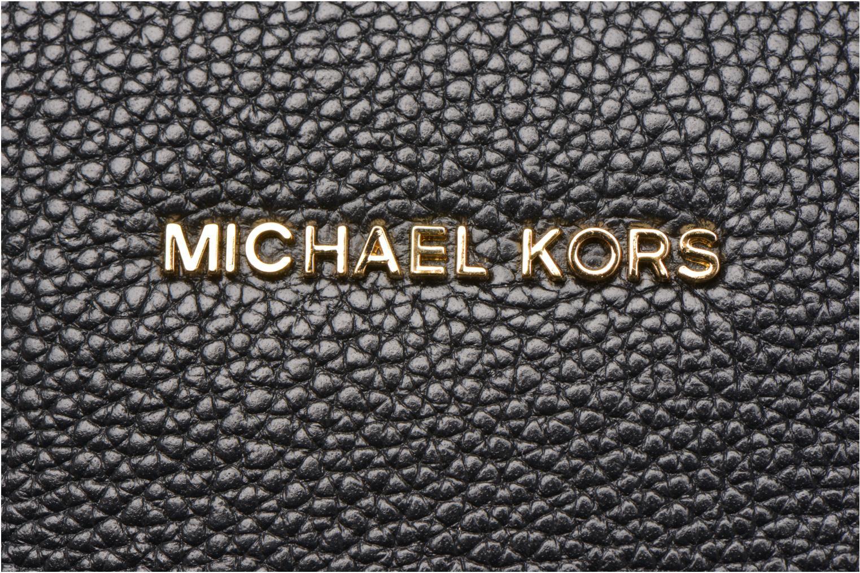 Handväskor Michael Michael Kors MERCER LG Convertible Satchel Svart bild från vänster sidan
