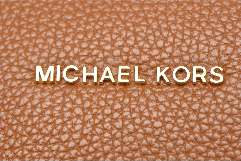 Borse Michael Michael Kors MERCER LG Convertible Satchel Marrone immagine sinistra