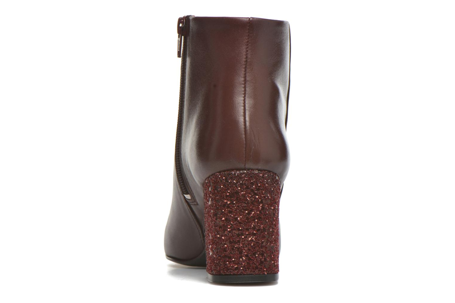 Ankle boots Georgia Rose Divala Burgundy view from the right