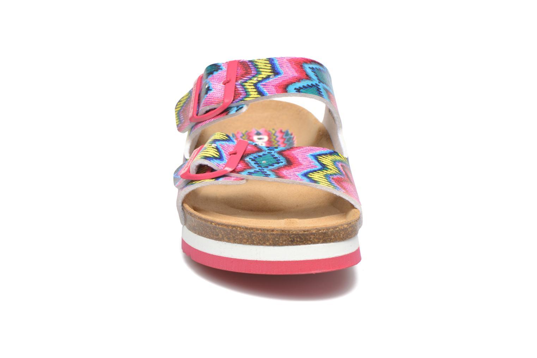 Sandales et nu-pieds Desigual SHOES_BIO 6 Rose vue portées chaussures