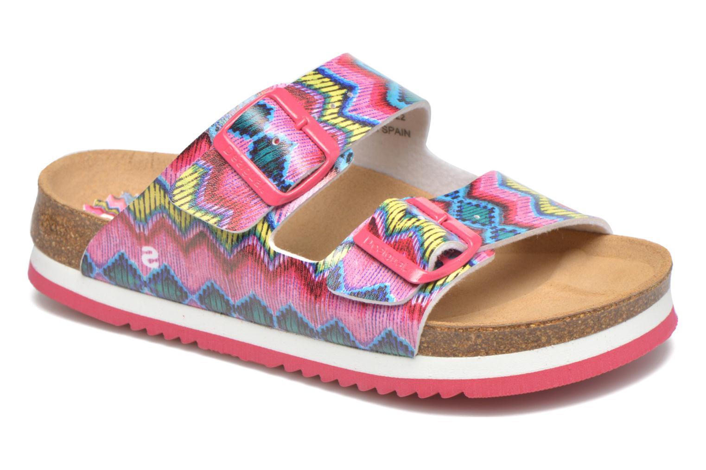 Sandales et nu-pieds Desigual SHOES_BIO 6 Rose vue détail/paire