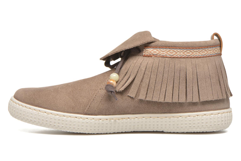 Sneakers Victoria Botin Flecos Serraje F Bruin voorkant