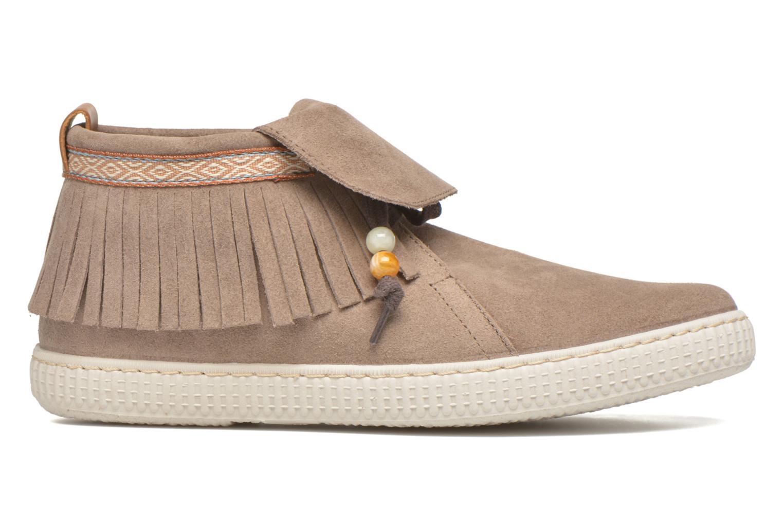 Sneakers Victoria Botin Flecos Serraje F Bruin achterkant