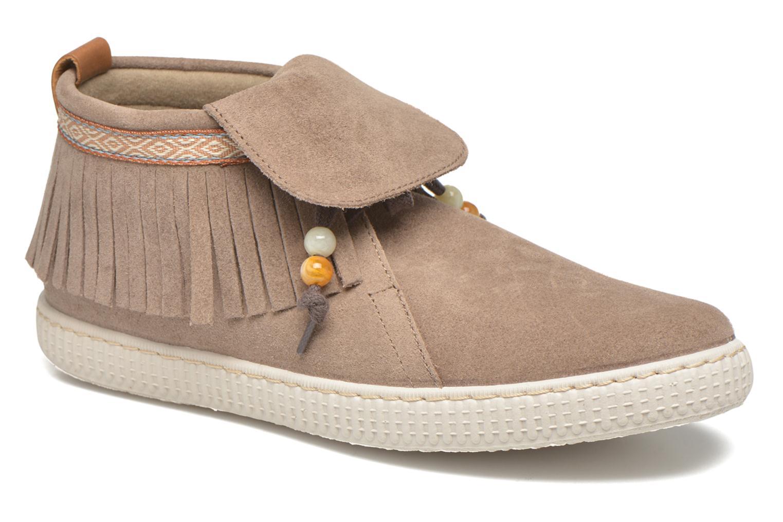 Sneakers Victoria Botin Flecos Serraje F Bruin detail