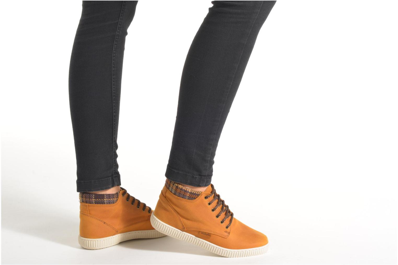Sneakers Victoria Bota Piel Bombeada Cuello Brun se forneden