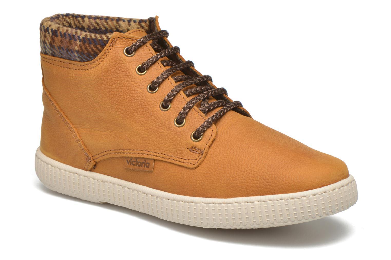 Sneakers Victoria Bota Piel Bombeada Cuello Brun detaljeret billede af skoene