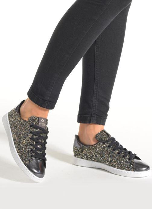 Sneakers Victoria Deportivo Plateform Glitter Zwart onder